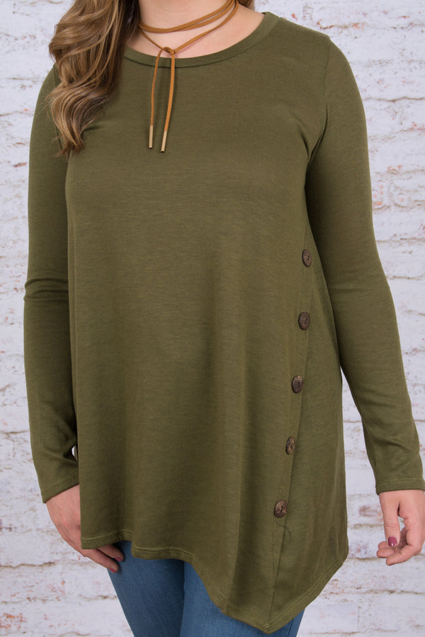 By Your Side Tunic, Olive