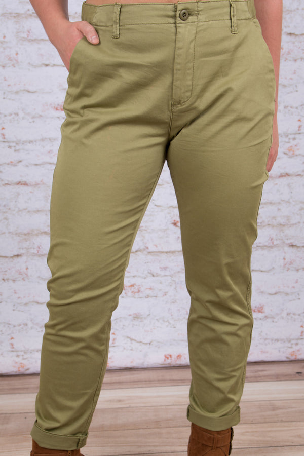 In the Know Chino Pants, Olive