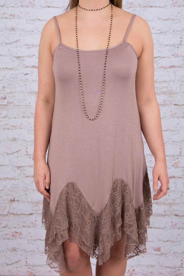 Graced With Lace Dress, Mauve