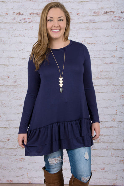 Easy on the Eyes Top, Navy