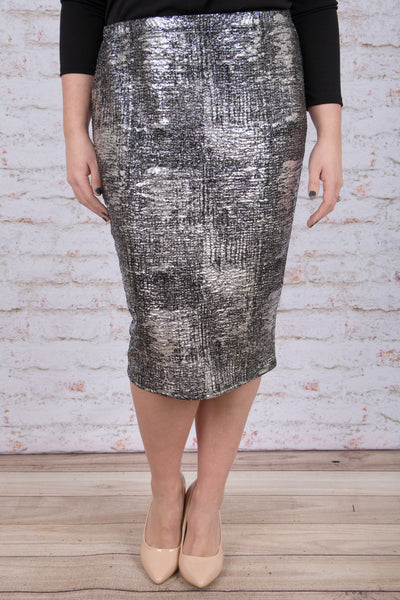 Glitz and Glam Skirt, Silver