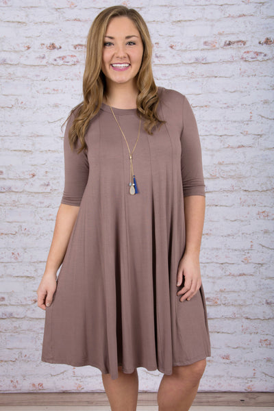 In the Swing of Things Dress, Mocha