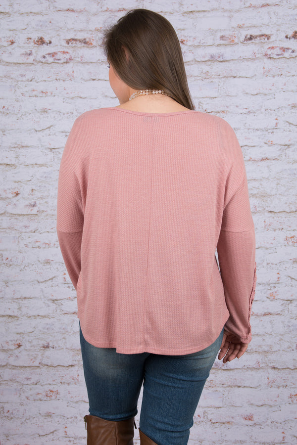 Feeling Cute Top, Dusty Rose