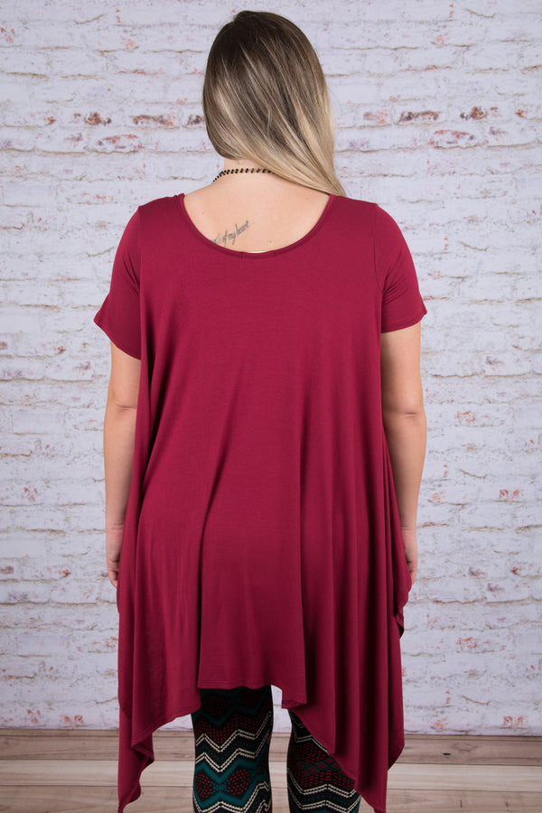 At My Best Tunic, Burgundy
