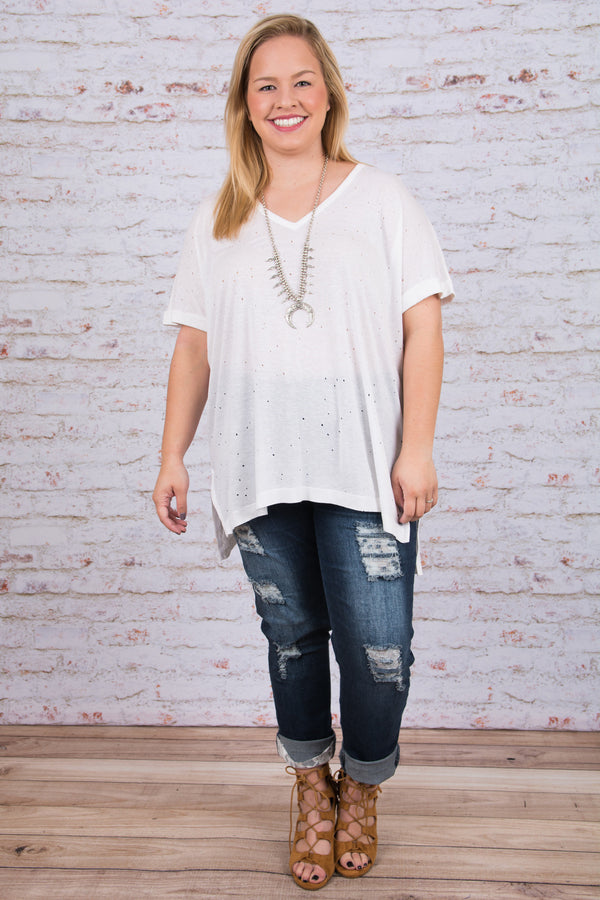 The Molly Tee, White