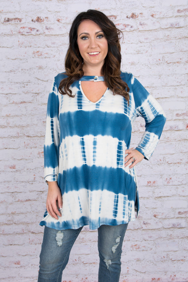Deep Blue Sea Tunic, Cerulean