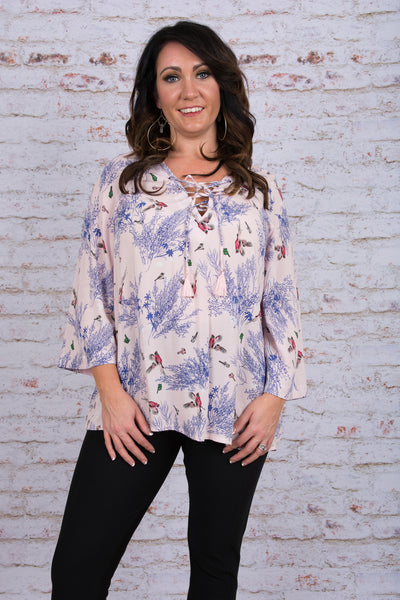 Take Flight Blouse, Light Pink