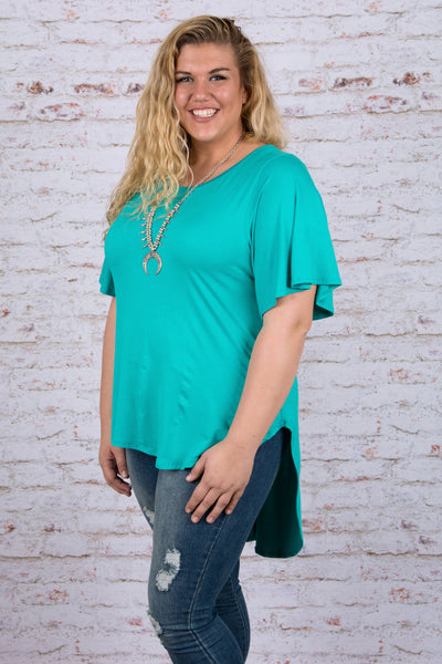 Set in Motion Top, Teal
