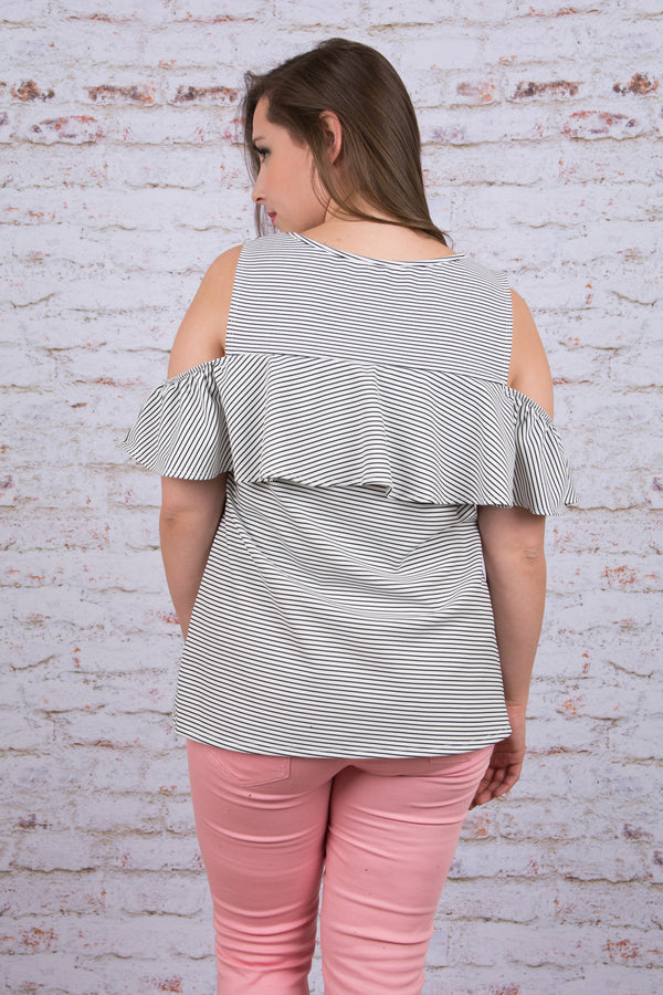 Get Ready to Ruffle Top, Ivory
