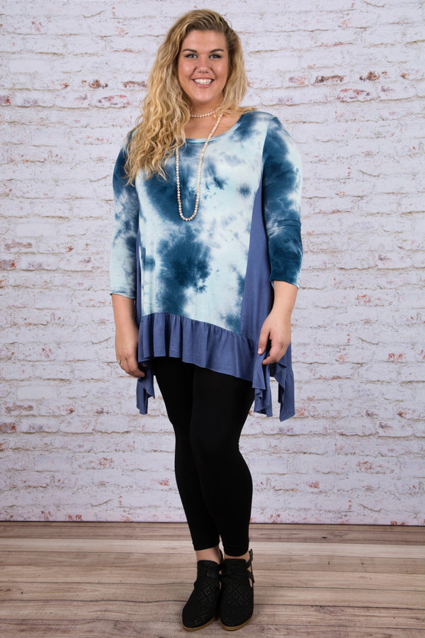 Up In the Sky Tunic, Blue