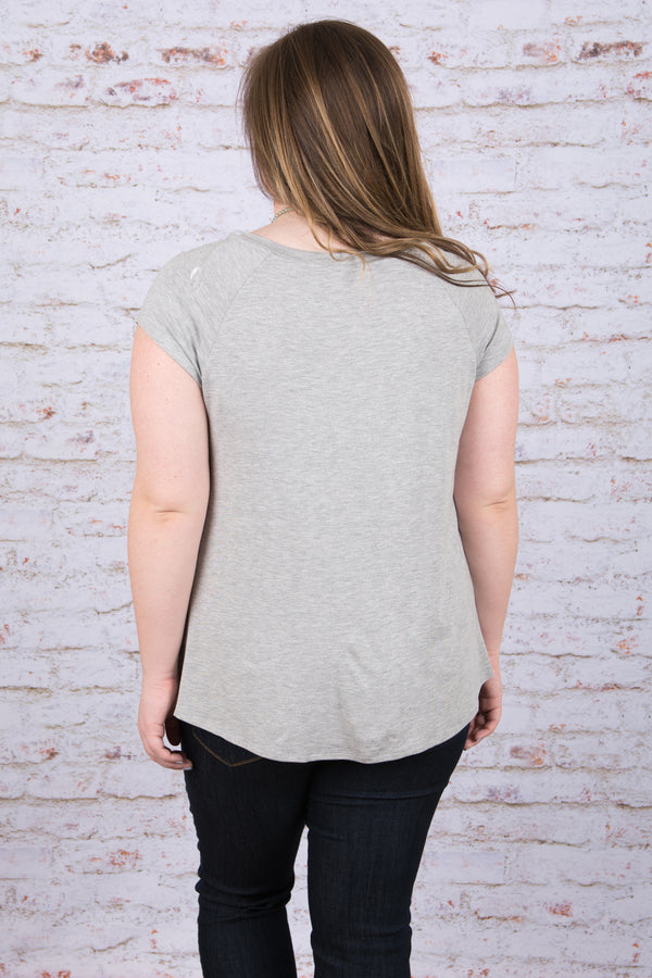 Side To Side Top, Heather Gray