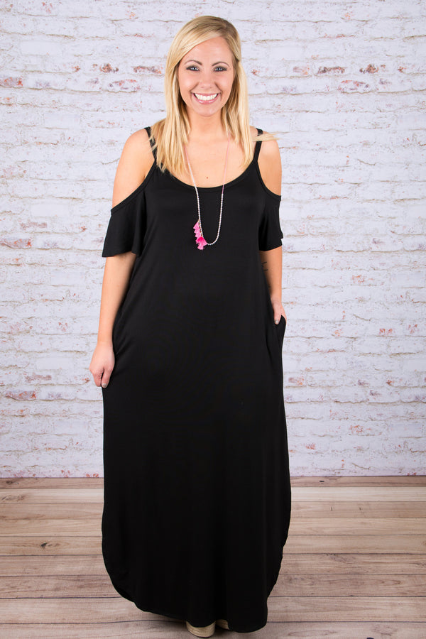 Breeze on By Maxi, Black