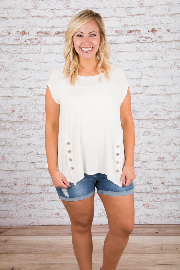 Side to Side Top, Ivory