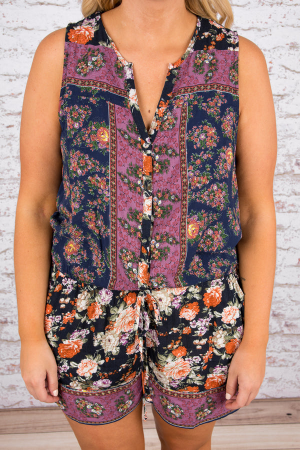 Bold Creations Romper, Navy