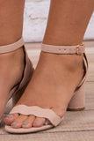 Ahead of the Curve Sandals, Blush