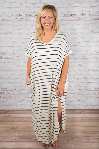 Show Your Stripes Maxi Dress, Ivory