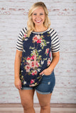 Fresh Fun Top, Ivory-Navy