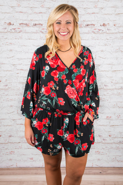 Good Intentions Romper, Black