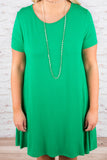Casual Weekend Dress, Kelly Green