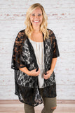 Adorable Addition Kimono, Black