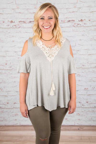 A Little Bit of Everything Top, Gray