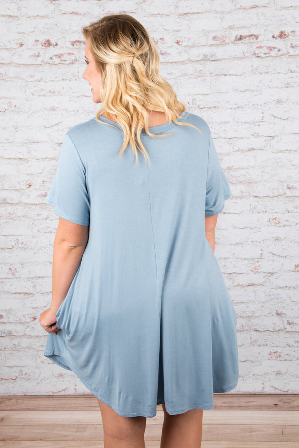 The Ellie Dress, Chambray