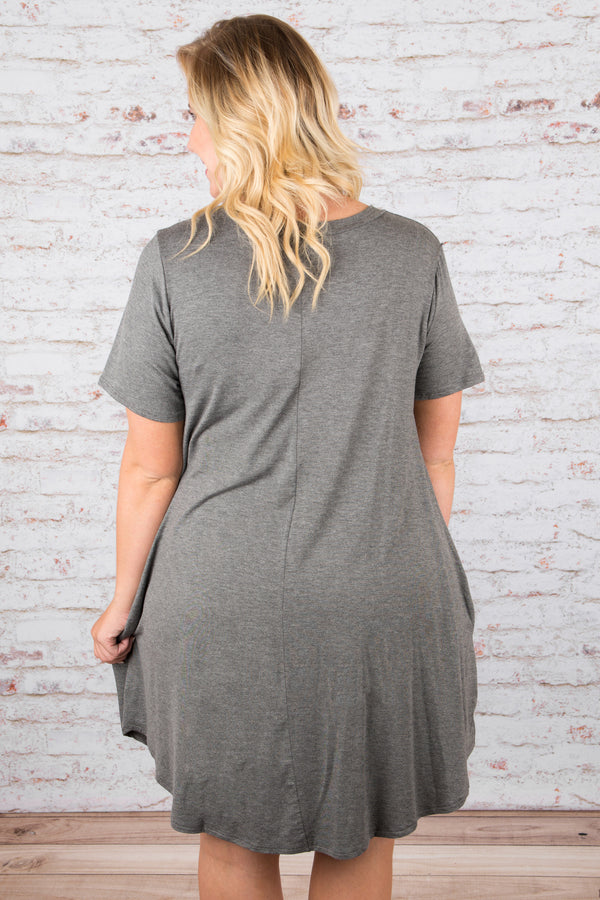 The Ellie Dress, Charcoal