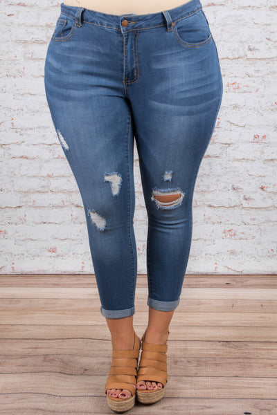 Can't Stop the Feeling Skinny Jeans, Medium Wash