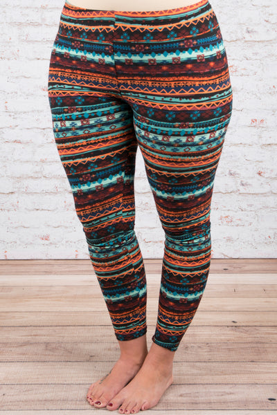 Live Your Life Leggings, Brown