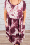 Dyed and True Dress, Burgundy