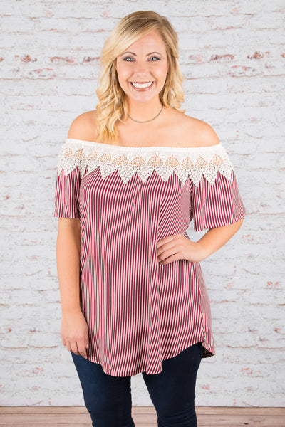 Class is in Session Tunic, Burgundy