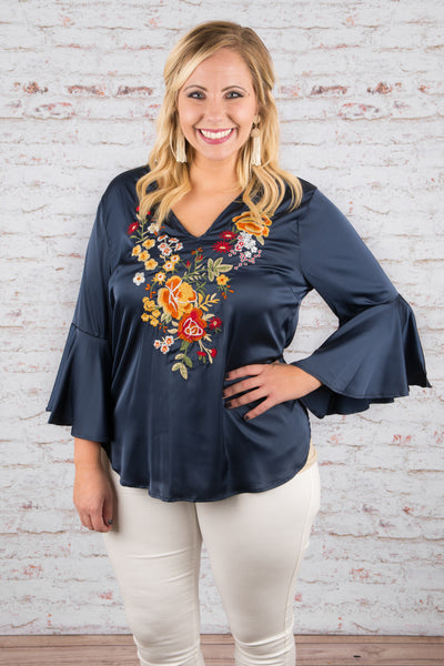 A Day In Downtown Blouse, Navy