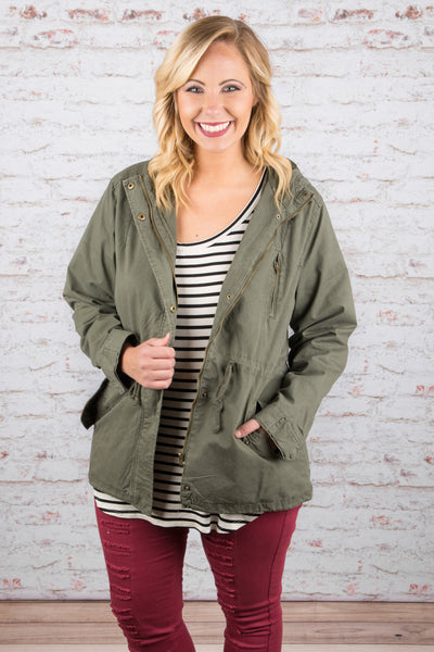 Going Places Jacket, Olive