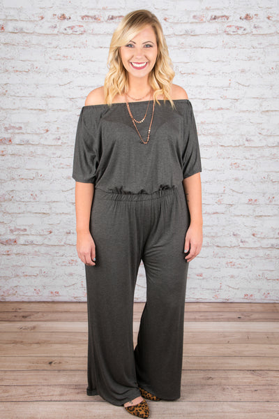 Up at Dawn Jumpsuit, Charcoal