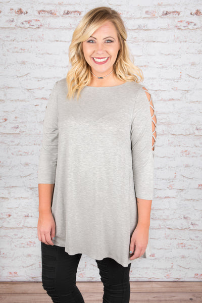 After Midnight Tunic, Gray