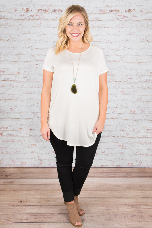 Carry Me Away Tee, Ivory