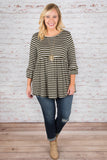 Crazy About You Top, Olive
