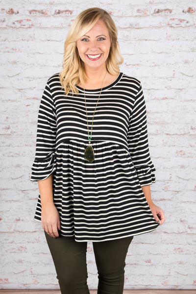 Crazy About You Top, Black