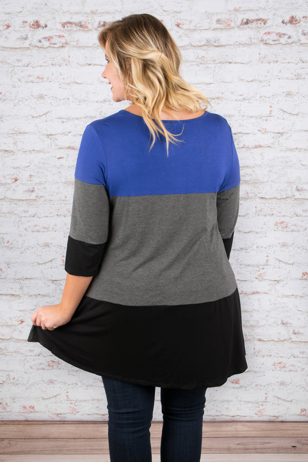 Block By Block Tunic, Royal Blue