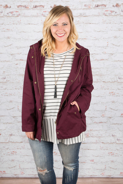 Going Places Jacket, Burgundy