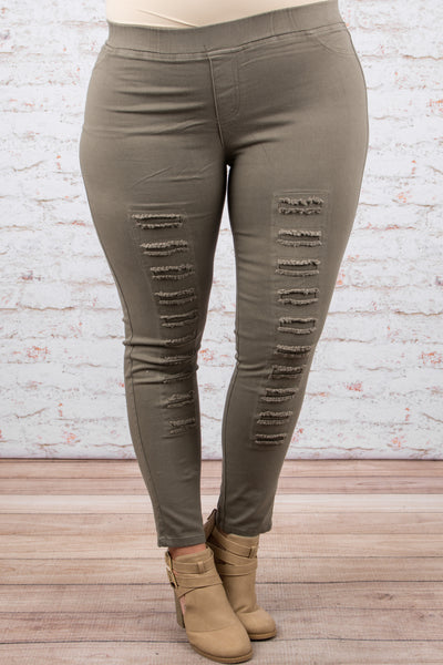 Tougher Than Most Jeggings, Olive