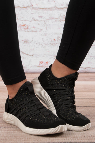 Actively Cute Sneakers, Black