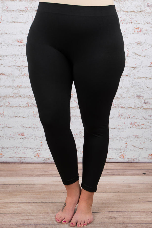 Girl Next Door Leggings, Black