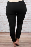 leggings, long, skinny, black, comfy