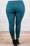 Tougher Than Most Jeggings, Teal