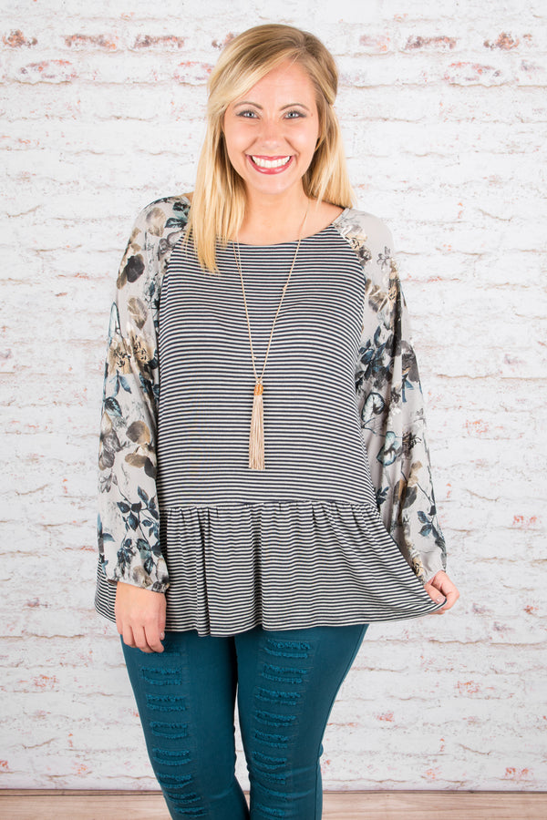 Ever So Sweet Blouse, Navy