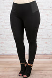 bottoms, jeggings, black, solid, skinny