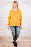 Crazy For Cozy Top, Mustard
