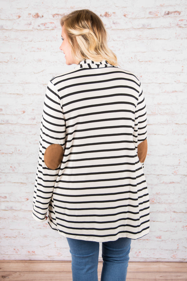 One Way Or Another Cardigan, Ivory Black