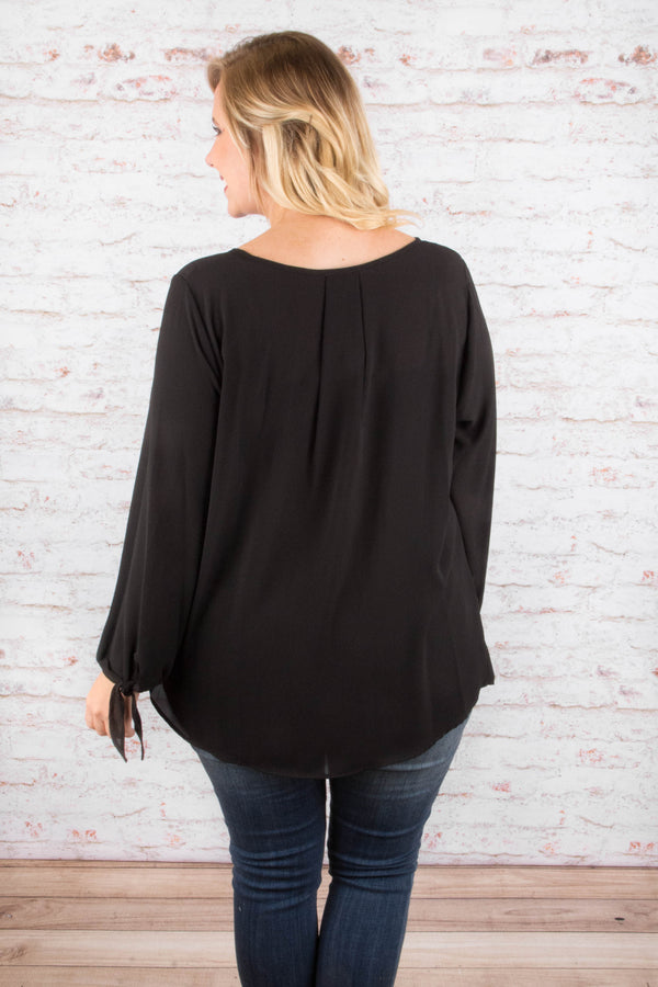Go Getter Attitude Blouse, Black